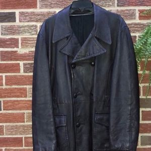 Other - CCO 🎈Vintage Men's Leather Trench Coat Size Large